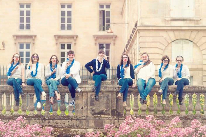 Enterrement de vie de jeune fille à Bordeaux jardin publique