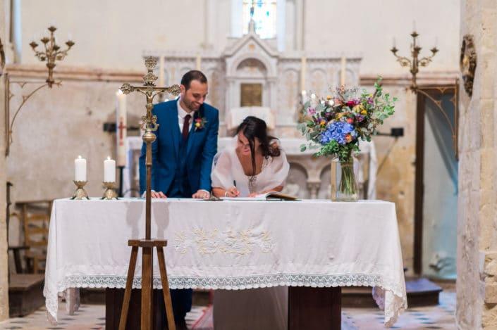 cérémonie religieuse mariage signature