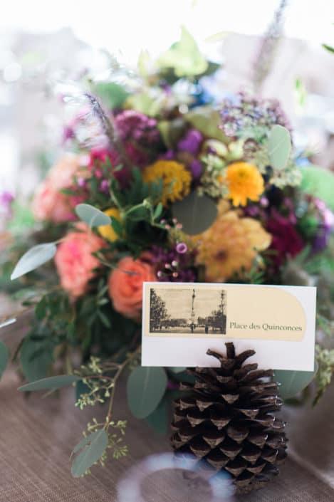 décoration florale château lardier