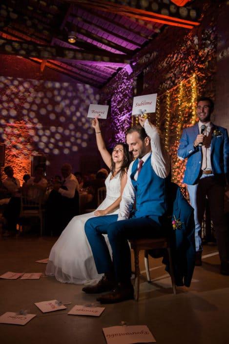 Jeux de soirée mariage château lardier