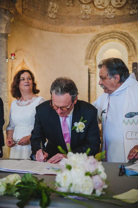 signature mariage église st eloi biganos