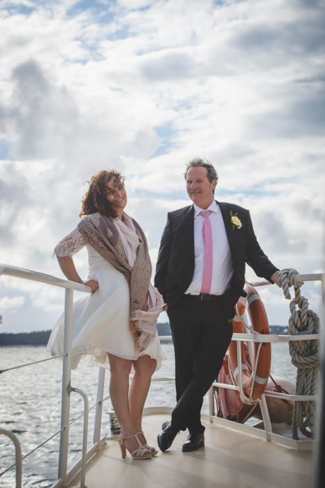 Couple de marié au bassin d'arcachon