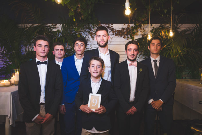 photo de groupe mariage au whitegarden cap ferret