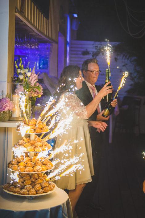gâteau de mariage au whitegarden cap ferret