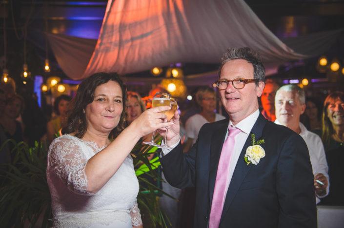 Champagne des mariés au whitegarden cap ferret
